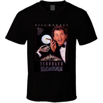 Scrooged 90's Classic Christmas Comedy Movie T shirt