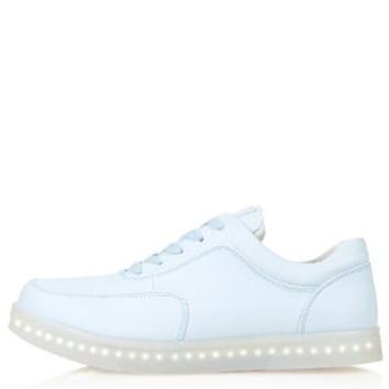 TRANCE Light Up Trainers by Topshop X Glow - Pale Blue