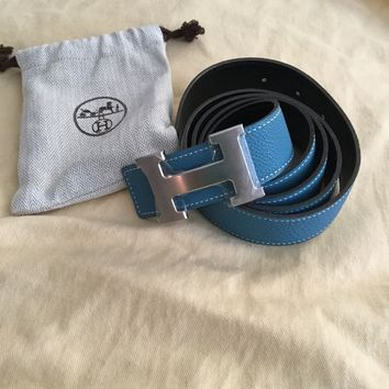 Hermes leather Constance belt