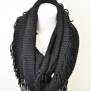 Baby It''s Cold Outside Scarf-Black