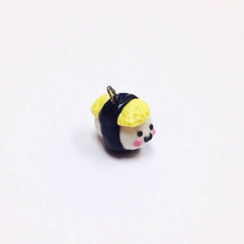 Kawaii Sushi Charm, cute polymer clay charm, miniature food charm, fake food charm, cute sushi, miniature sushi, dollhouse food, mini food