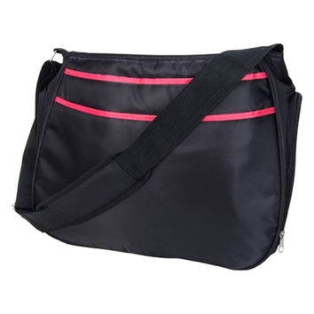 Black And Fuchsia Pink Ultimate Hobo Diaper Bag