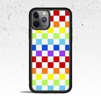 Rainbow Checkered Phone Case for Apple iPhone