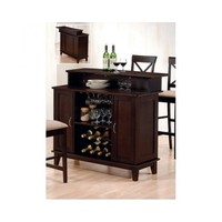home bar furniture home bar Solid Wood Bar with Wine Rack wine storage wood bar