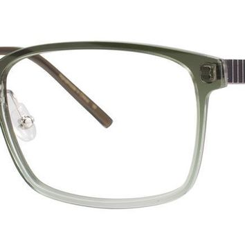 Jhane Barnes - Approximate 54mm Olive Eyeglasses / Demo Lenses