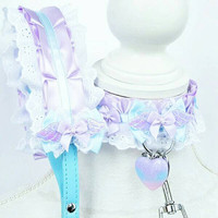 Heaven Set - Lacey O ring Durable BDSM Ddlg Pet Kitten Puppy Slave Submissive Play Collar and Leash