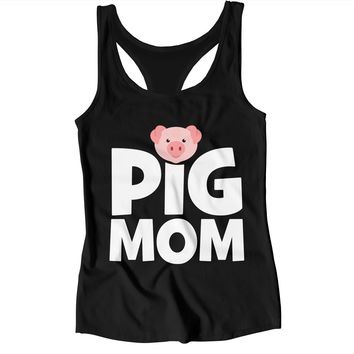 Pig Mom Ladies Tank Top