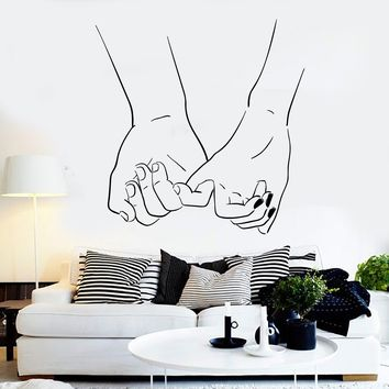 Vinyl Wall Decal Love Couple Hands Romantic Room Stickers Unique Gift (ig3875)
