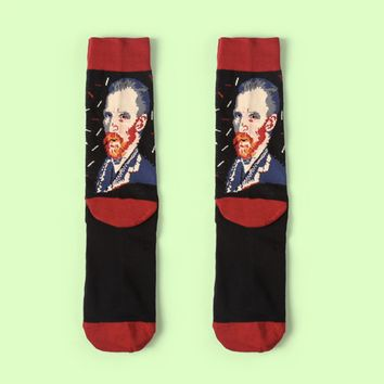 Van Gogh's Self Portrait Sock Vol.2