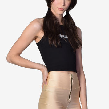 Toni Sheen Zip Shorts - Gold