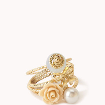 Pearlescent Rosette Ring Set | FOREVER 21 - 1000048925