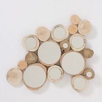 Wooden Orbit Mirror
