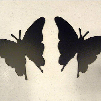 Butterfly Set of Two Metal Wall Art Decor