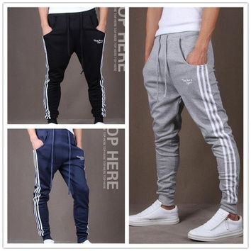 Outdoor Casual Joggers  Soccer Pants Football Training Mens Sweatpants Stripes Sweatpants Pantalones [9305660423]
