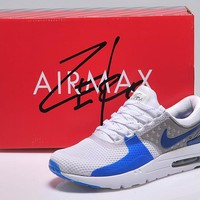 qiyif NIKE AIR MAX ZERO White/Grey&Blue