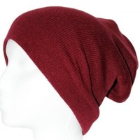 Ribbed Beanie Hat Slouch ...