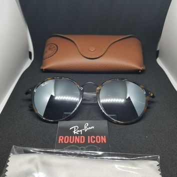 ray ban round icon polarized good price real brown plastic metal