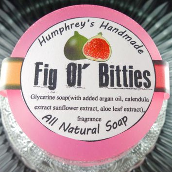 FIG OL BITTIES Glycerin Soap SALE   Cranberry Fig Scent   Women's Shave & Shampoo Soap