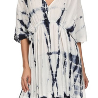 Tie Dye Split Side Cover-up