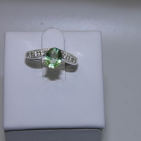 New Sterling Silver ring sz 7 * .95ct Grn African Copper Paraiba Tourmaline
