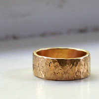 Mens Ring Mens Wedding Ring 14k Gold