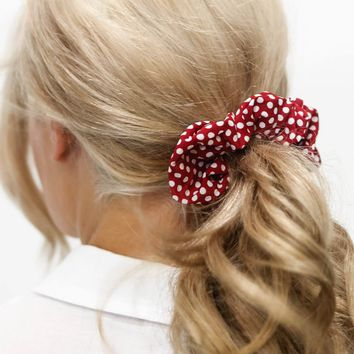 Feeling It Color Polka Dot Scrunchie