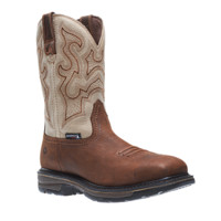 "Wolverine LARIAT WATERPROOF SQUARE-TOE WELLINGTON 10"" STEEL-TOE BOOT"