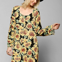 Somedays Lovin Sunflower Long-Sleeve Dress - Urban Outfitters