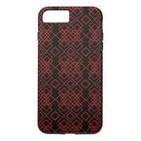 old tribal pattern (red and black) iPhone 8 plus/7 plus case