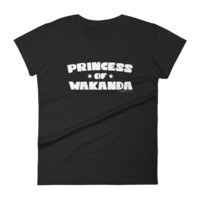 """Princess of Wakanda"" Women's black short sleeve t-shirt"