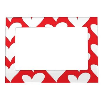Hearts Photo Frame Magnet
