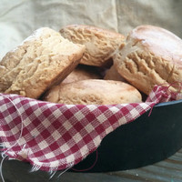 Country Biscuit Skillet Faux Bread Display