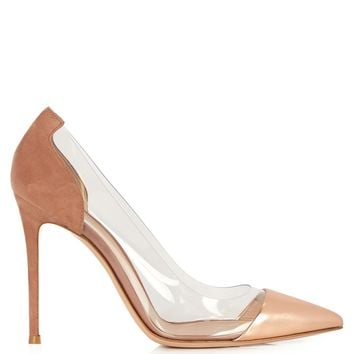 Plexi suede and leather pumps | Gianvito Rossi | MATCHESFASHION.COM US