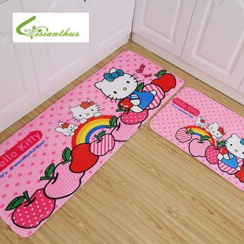 Welcome Doormat Hello Kitty 45*120cm Living Room Bathroom Carpet Floor Mats Kitchen Rugs and Carpets Soft Absorbent Bath Mat