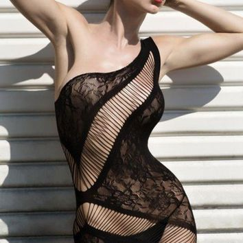 Women's Figure-Hugging Lace Body Stocking