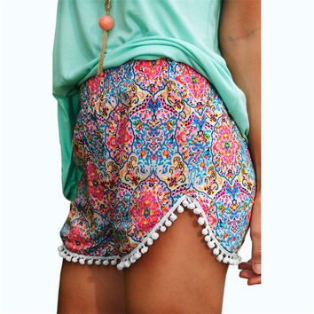Hot Printed Summer High Waist Beach Short
