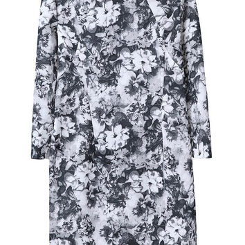Print Dress Floral Skirt Vintage One Piece Dress [4917803076]