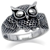 Wise Owl 925 Sterling Silver Ring