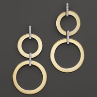 Roberto Coin 18K Yellow and White Gold Diamond Round Drop Earrings   Bloomingdales's