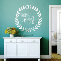 Sweet Home Quote Wall Stickers, DIY home decoration removable wall decal,  wall art decor ,DQ2014564