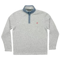 FieldTec Woodford Snap Pullover in Avalanche Gray by Southern Marsh - FINAL SALE