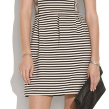 Bistro Dress In Ridgestripe (Madewell)