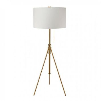 Zaya Contemporary Style Floor Lamp, Gold