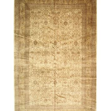 EORC Hand-knotted Wool Ivory Traditional Oriental Sarouk Rug
