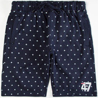 Lrg Retro Reflective Mens Sweat Shorts Navy  In Sizes