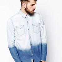 Bellfield Dip Dye Denim Shirt