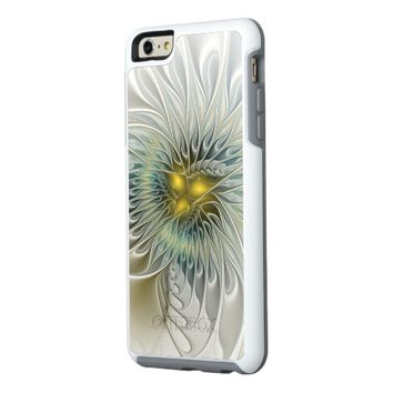 Golden Flower Fantasy, abstract Fractal Art OtterBox iPhone 6/6s Plus Case