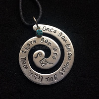 Moana- Maui- Grandma Tala~custom quotes necklace or keychain ~How far i'll go
