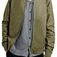 Men's Topman Cotton Bomber Jacket,