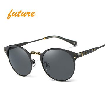 Round Metal Sunglasses Steampunk Men Women Fashion Glasses Brand Designer Retro Vintage Sunglasses UV400 oculos de sol